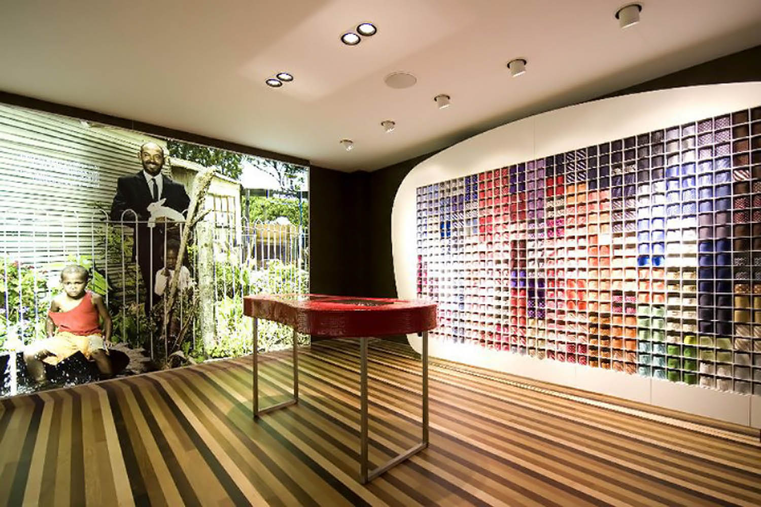 Ashly matches the upscale aesthetic at suitsupply stores for Wallpaper retailers