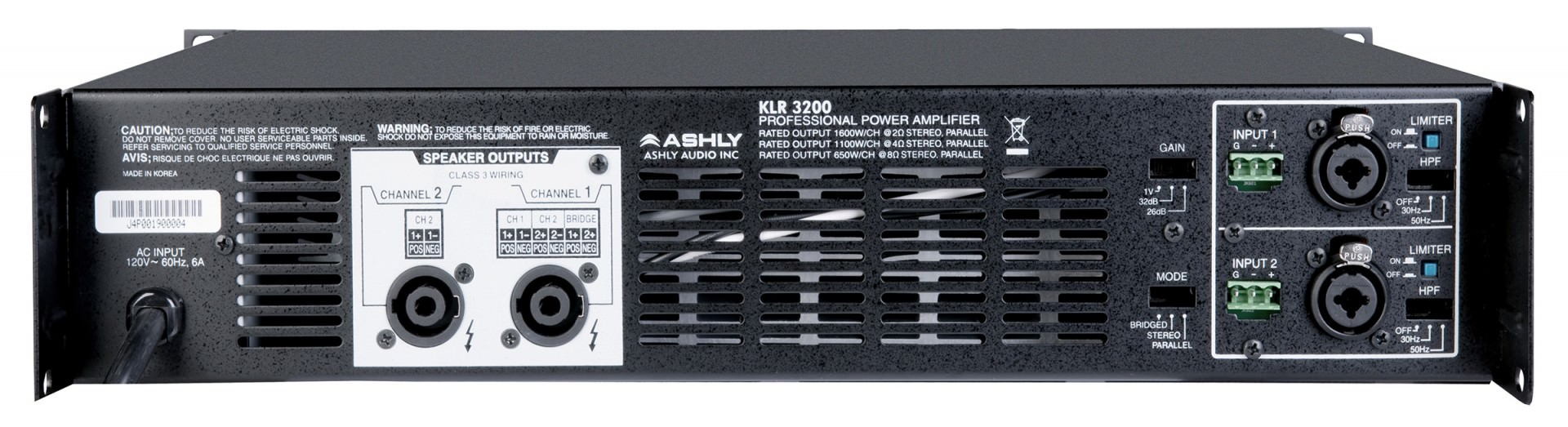 Klr High Performance Amplifiers Ashly Audio 70v Speaker With Volume Control Wiring Diagram Free Download Power Ratings