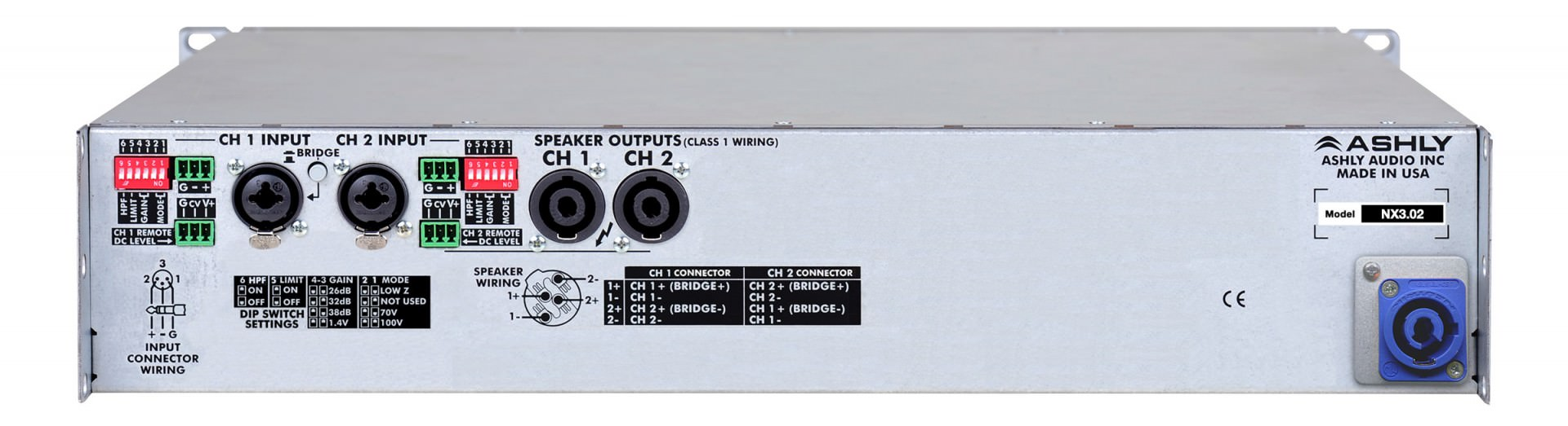 Nx Multi Mode Amplifiers Ashly Audio Wiring Schematic Diagram 300w Subwoofer Power Amplifier Rear Panel
