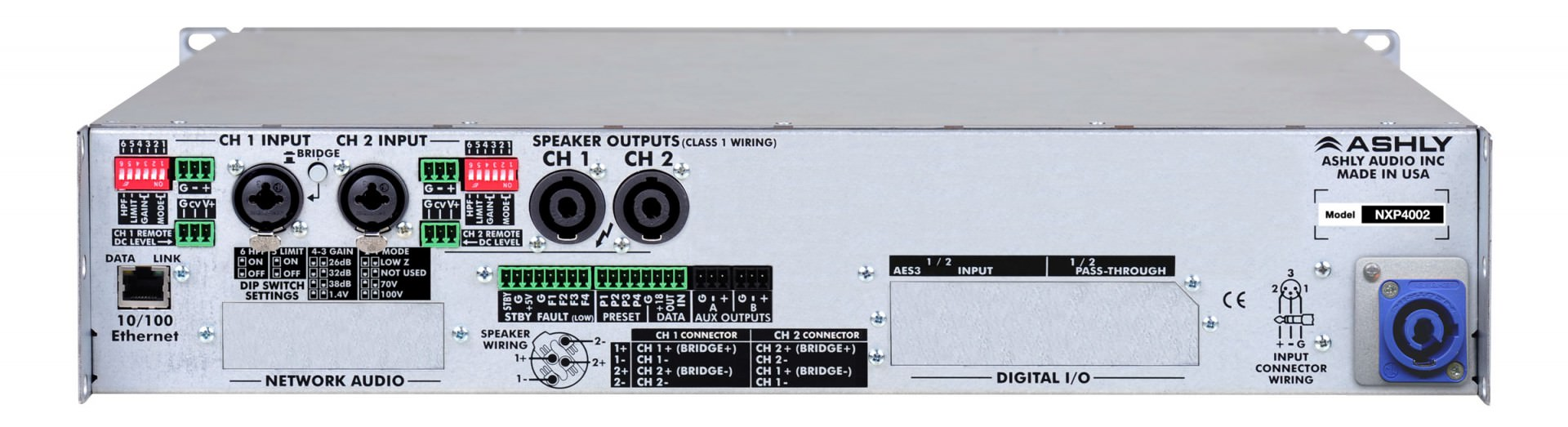 Nx Multi Mode Amplifiers Ashly Audio 400w Amplifier Schema And Layout Rear
